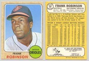 Cartões de baseball americanos.